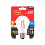 Lamp.Led A60 Filamento 4w G-Light 2700k 127v