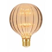 Lamp.Led G125 Filamento 2w Taschibra Ambar