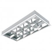 Luminaria Alto Rend. T8 2x20/16w Emb.