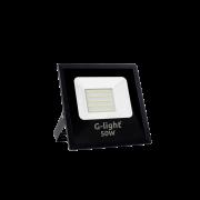 Refletor Led Smd Prof G-Light 50w 6500k Preto