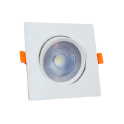 Spot Bronzearte Quad. 5w 6000k Branco C/ Lamp. Led