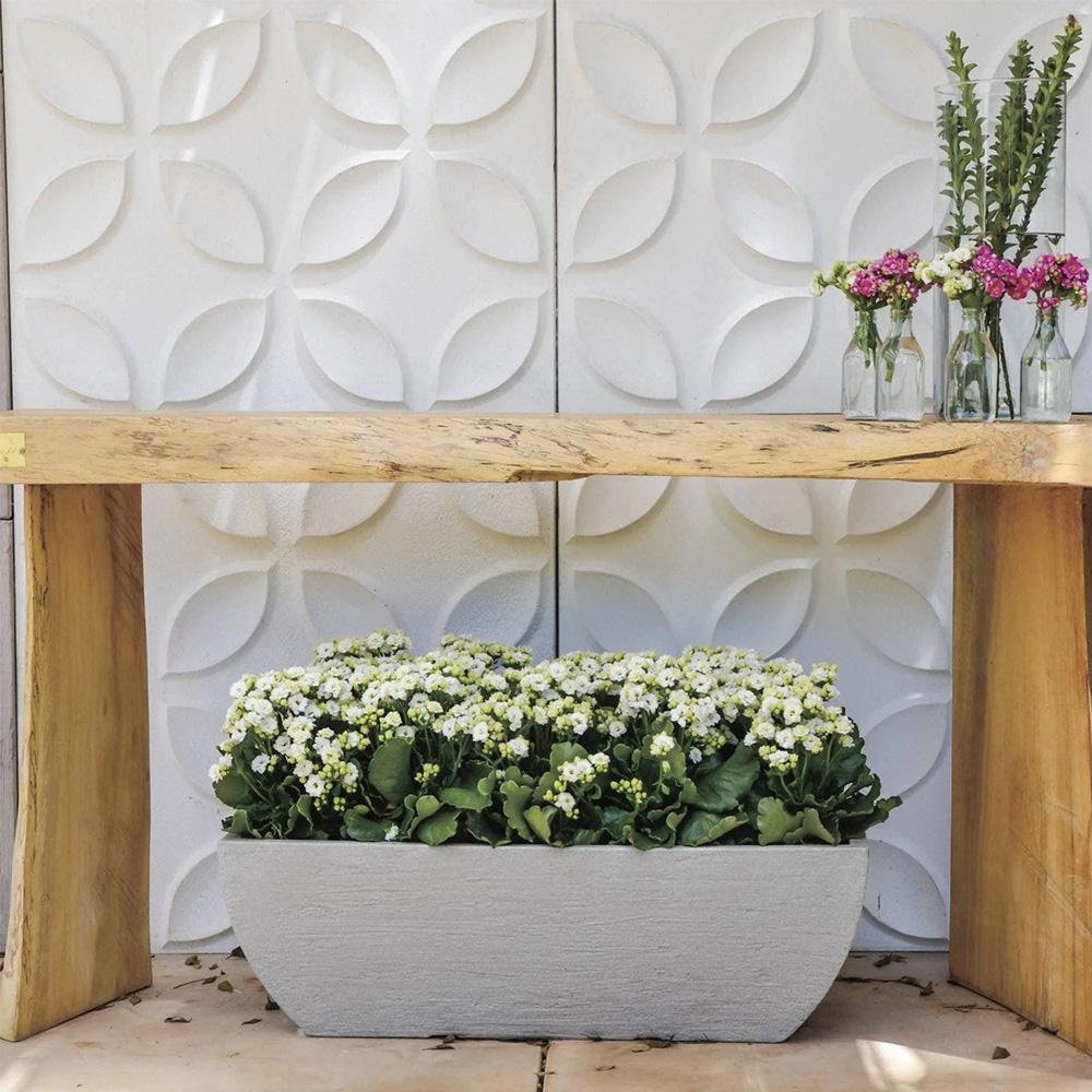 Floreira Japi Quadrada Moderna 78cm ***Cimento