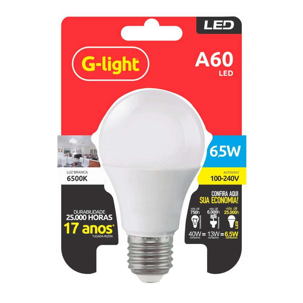 Lamp.Led A60 G-Light E-27 6,5w Biv. ***Amarela