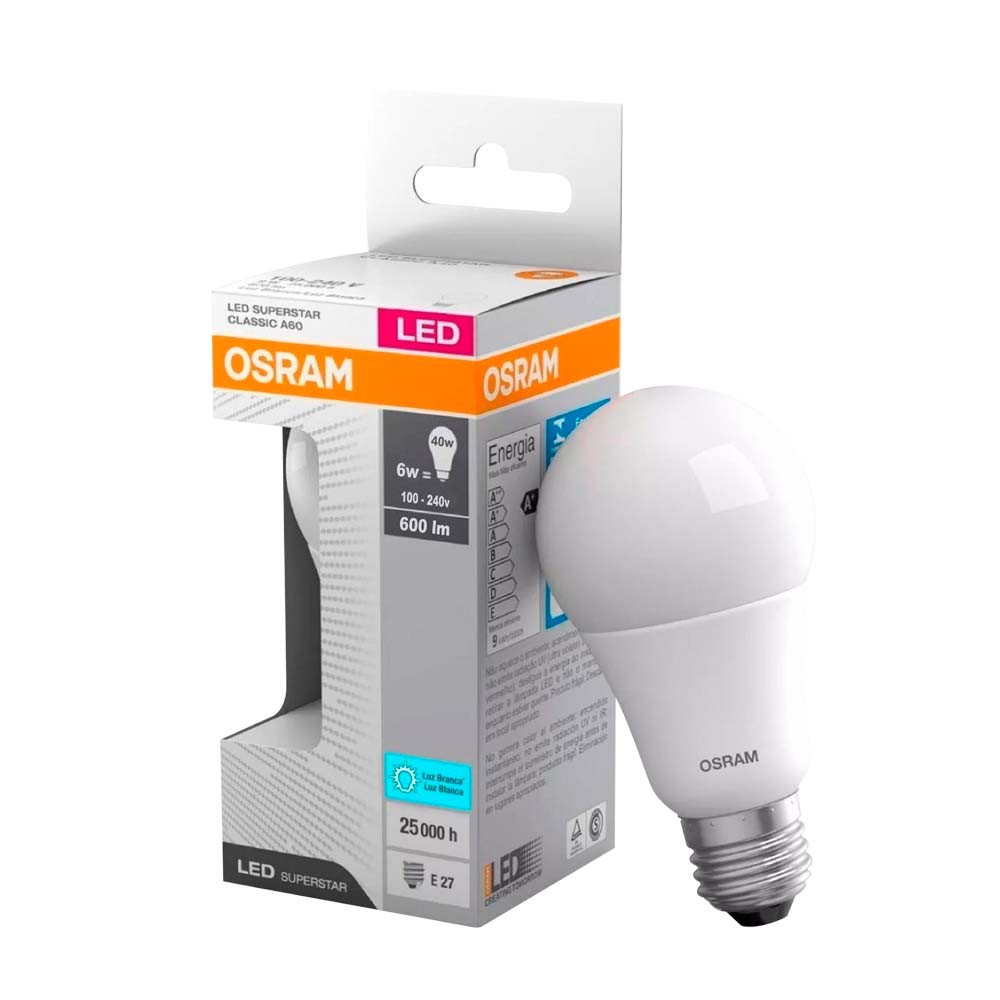 Lamp.Led A60 Osram E-27 6w Biv. ***6000k