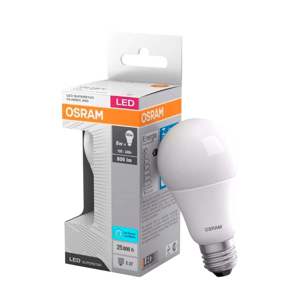 Lamp.Led A60 Osram E-27 8w Biv. ***3000k