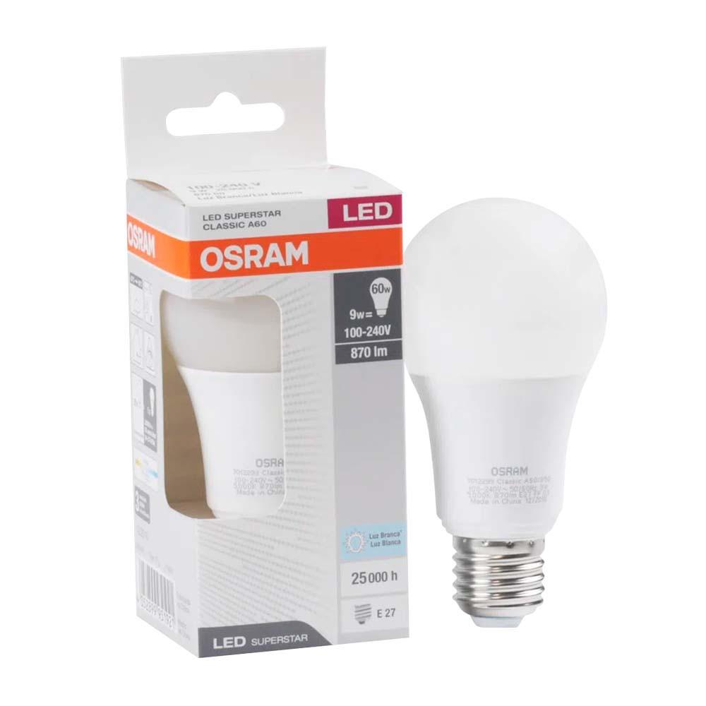 Lamp.Led A60 Osram E-27 9w Biv.
