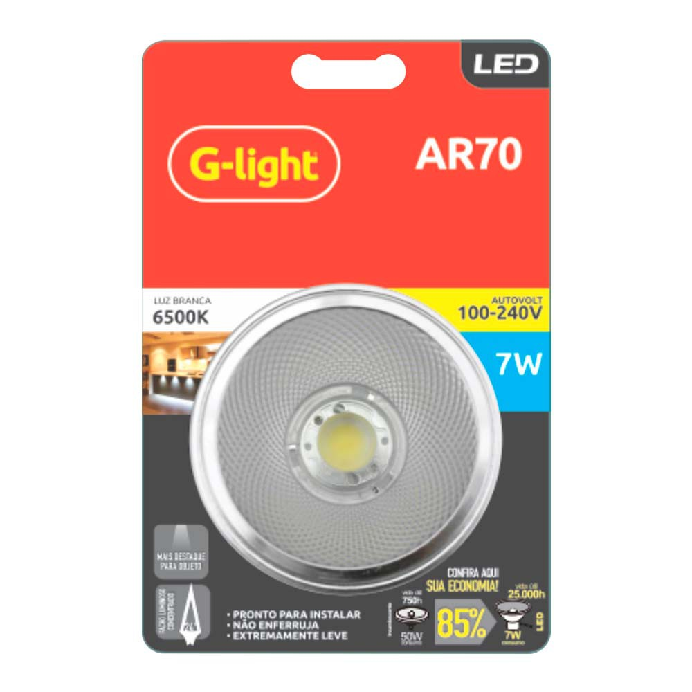 Lamp.Led Ar70 G-Light 7w Bivolt ***6500k
