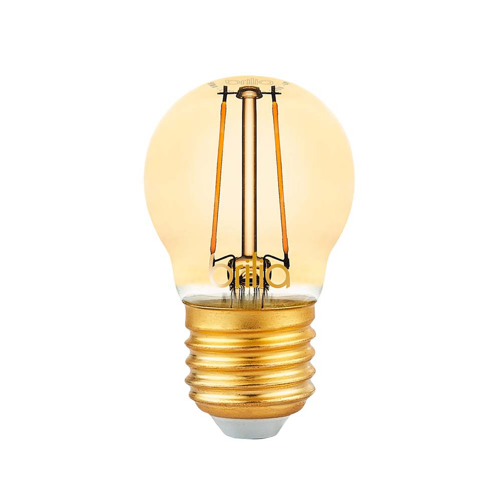 Lamp.Led Bolinha Filamento Brilia E-27 2,5w Biv.