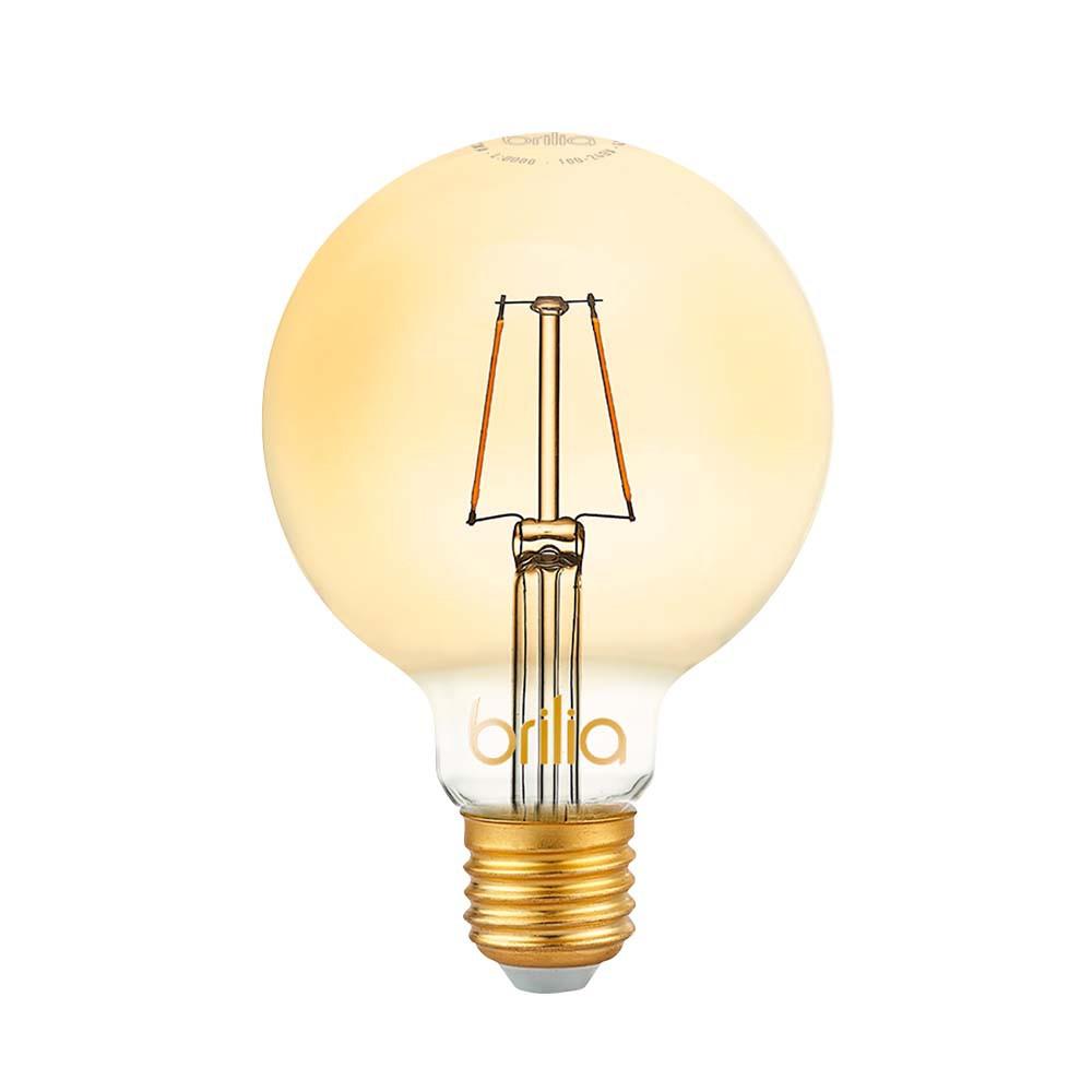 Lamp.Led G125 Filamento Brilia E-27 4,5w Biv.