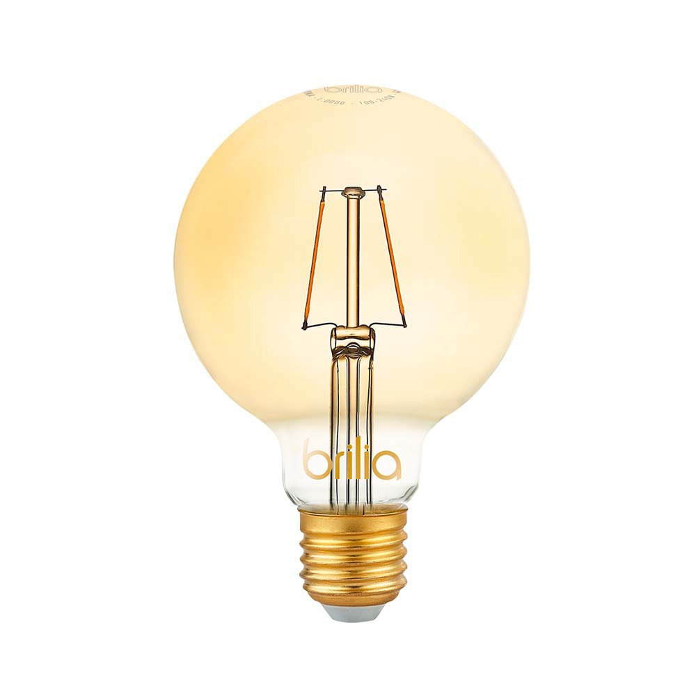 Lamp.Led G95 Filamento Brilia E-27 2,5w Biv.