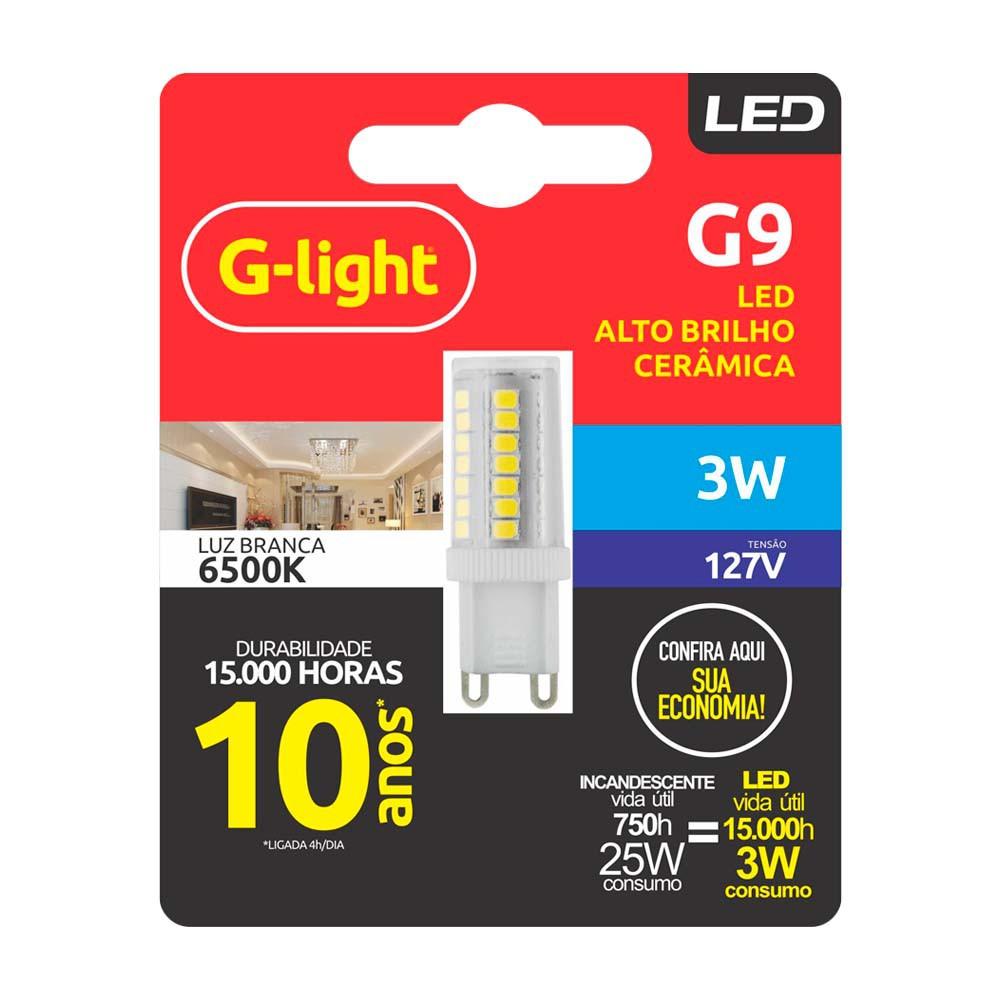 Lamp.Led G9 Ceramica G-Light 3w 127v ***2700k