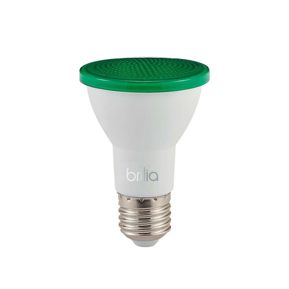 Lamp.Led Par 20 Brilia 6w Verde Bivolt