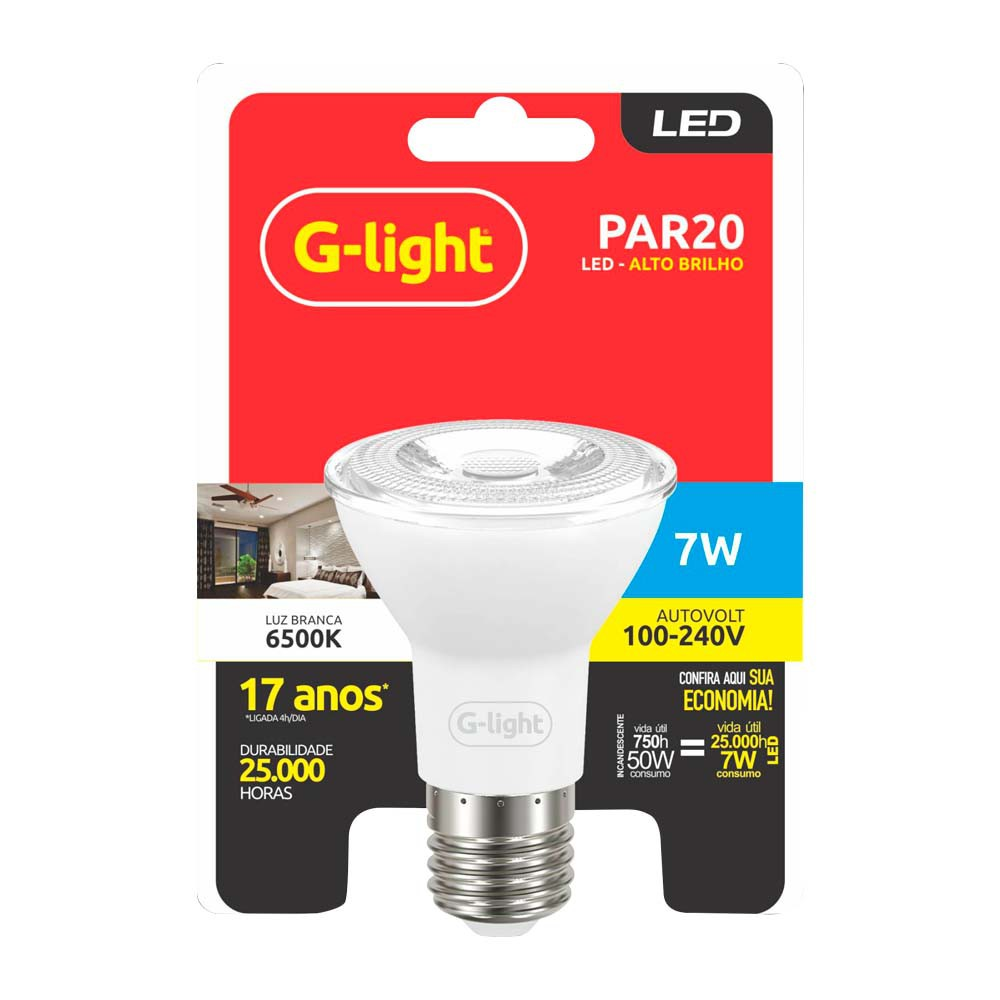 Lamp.Led Par 20 G-Light 7w Bivolt ***3000k