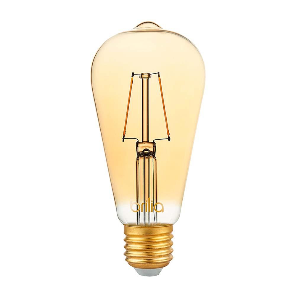 Lamp.Led St64 Filamento Brilia E-27 2,5w Biv.