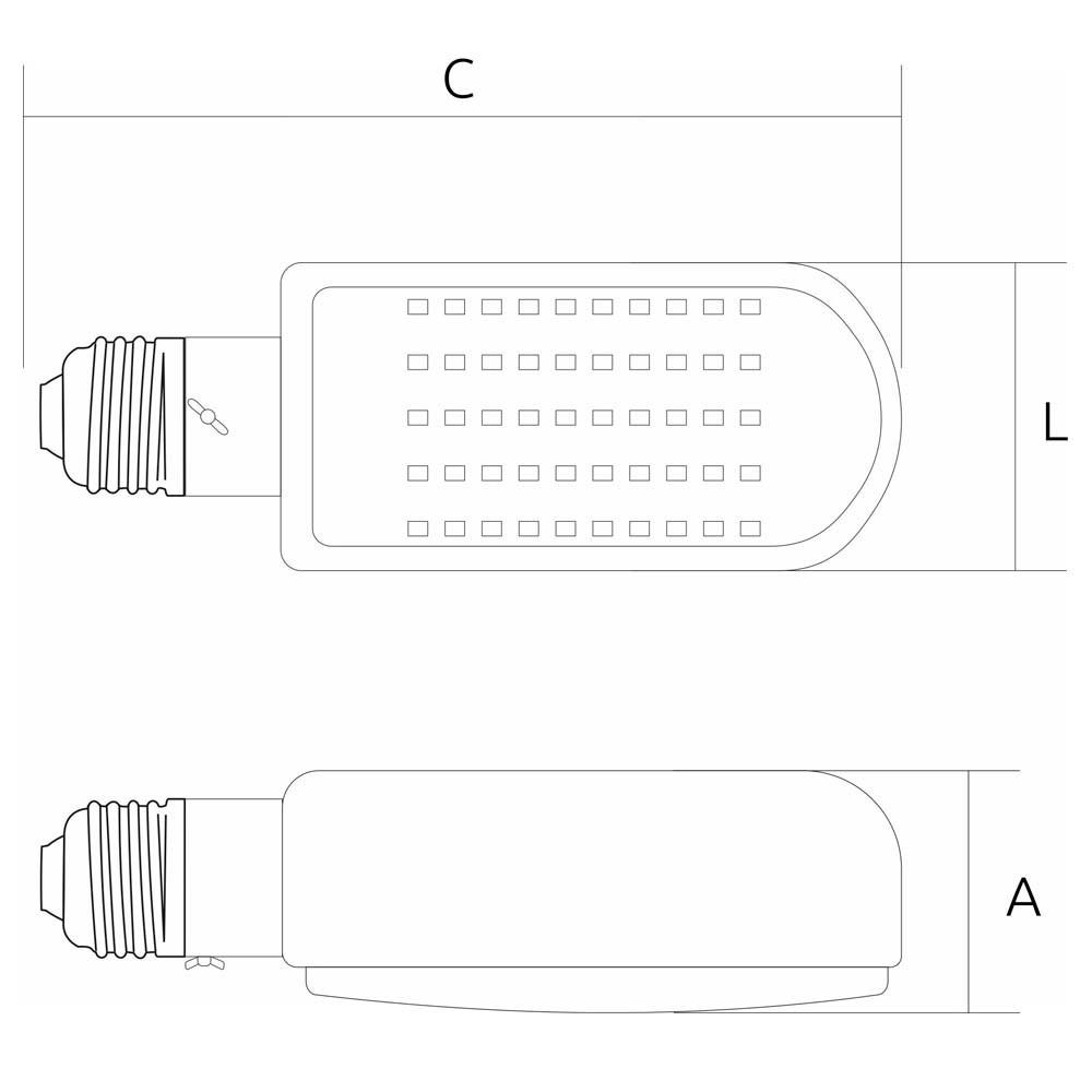 Lamp.Led Street Led G-Light 40w E-40 220v ***6500k