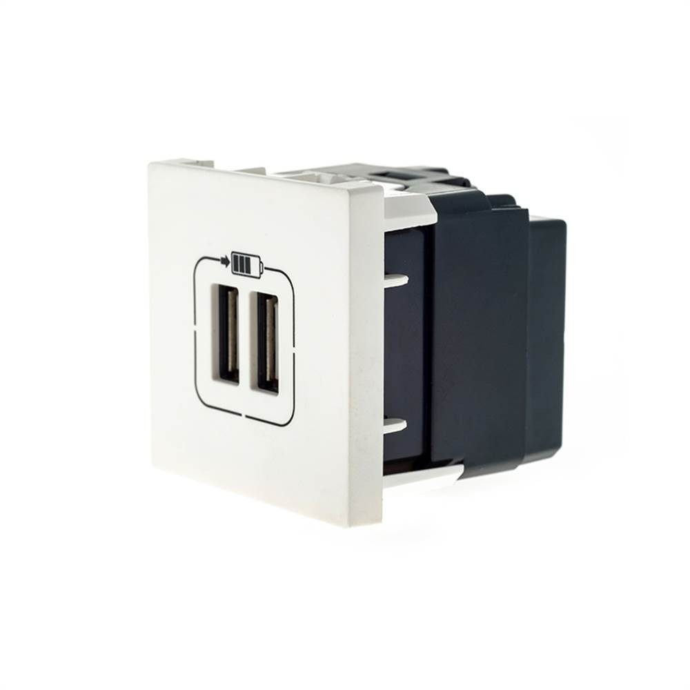 Modulo Plus+ 2x Usb Carregador 2400ma Branco