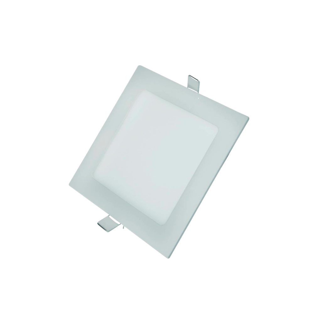 Painel Led G-Light Quad. Embutir 12w 3000k
