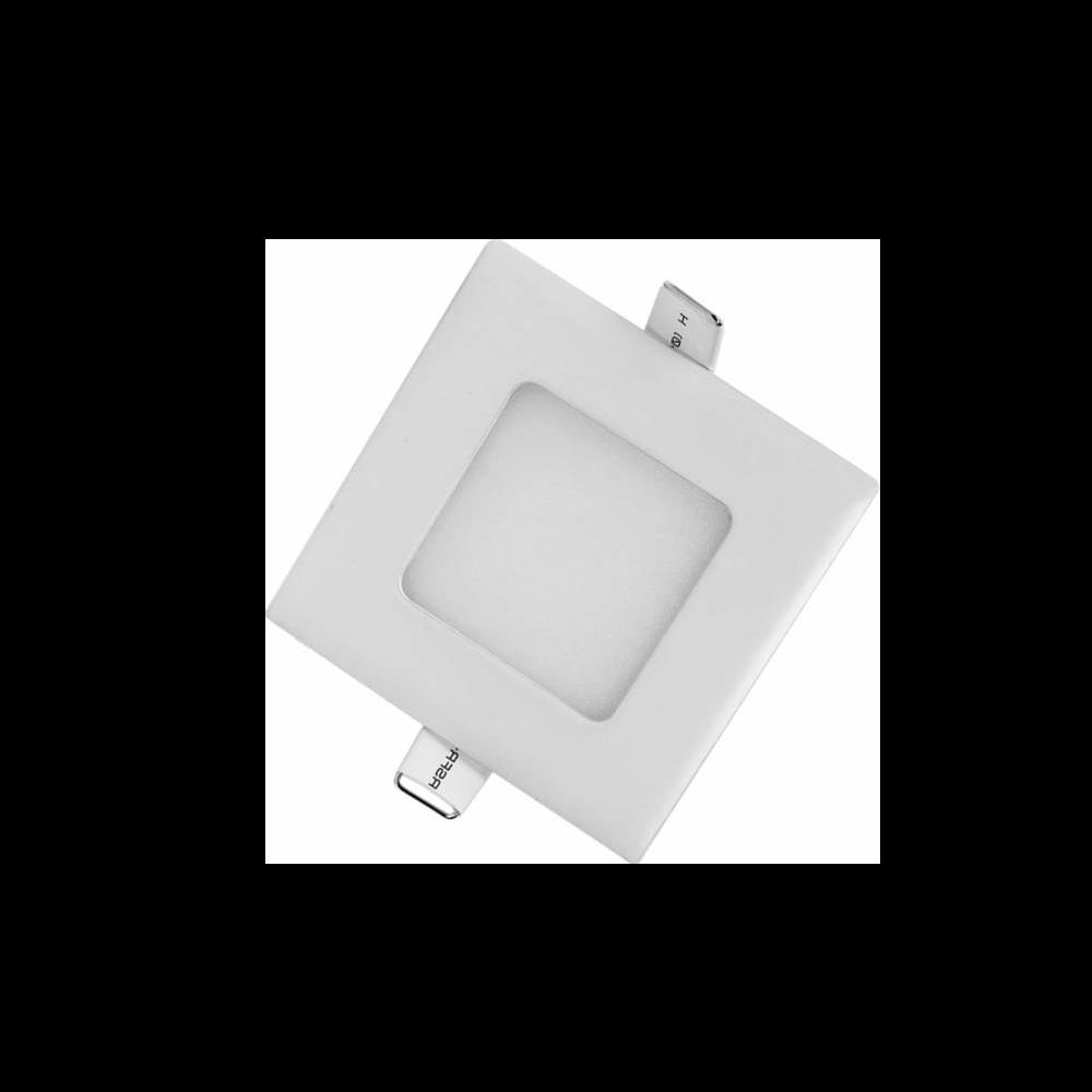 Painel Led G-Light Quad. Embutir 3w 6500k