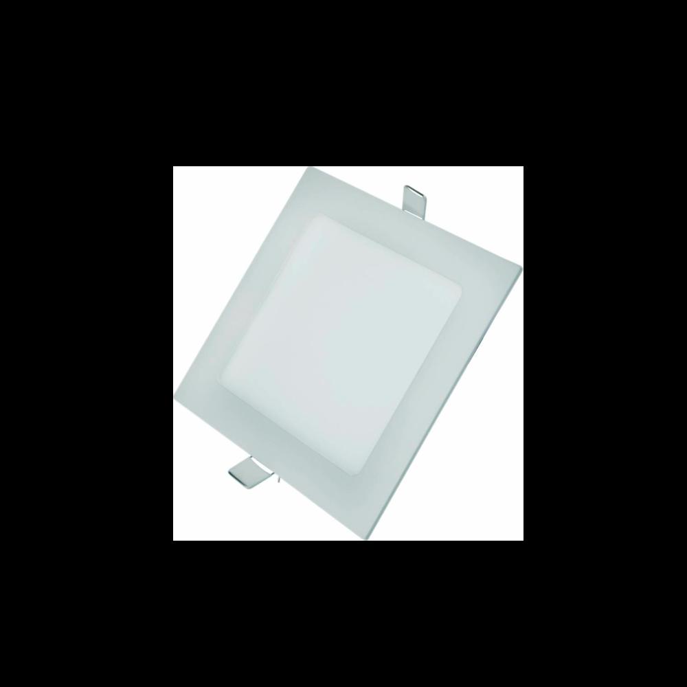 Painel Led G-Light Quad. Embutir 6w 3000k