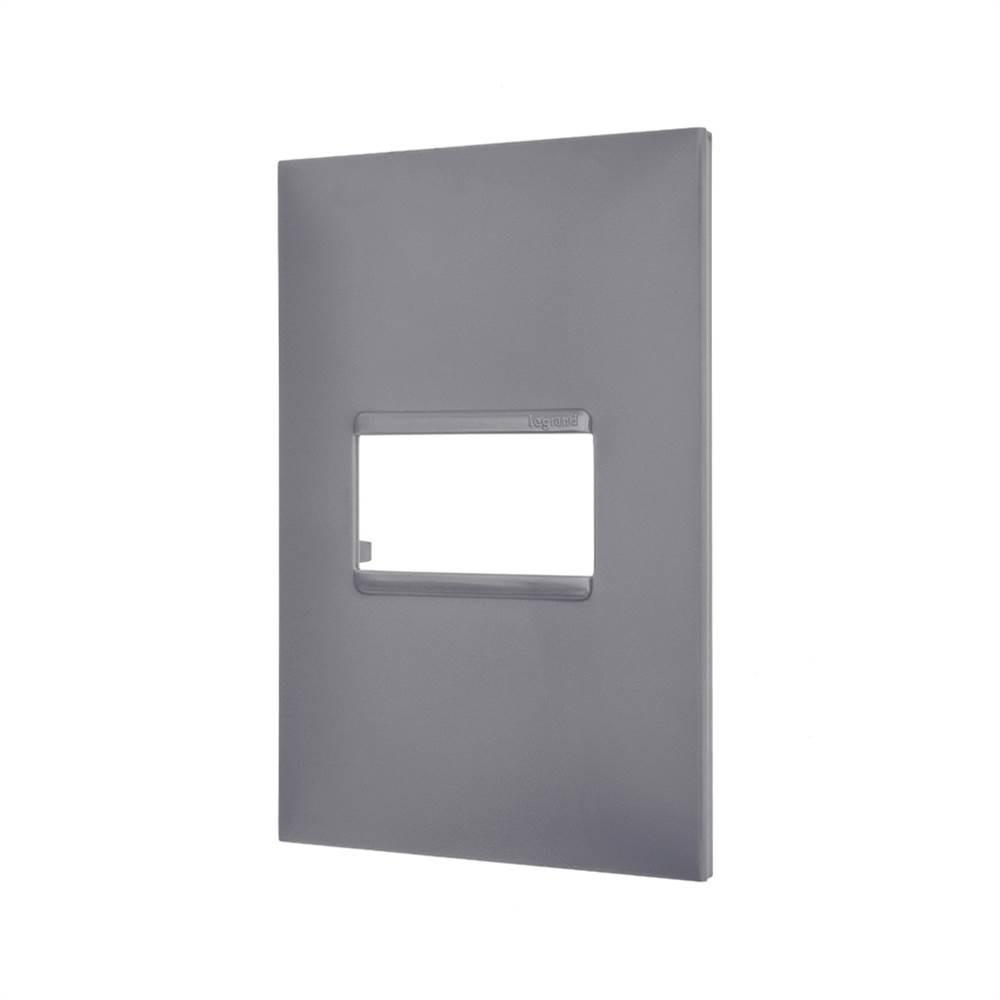 Placa Plus+ 1 Modulo 4x2 Cinza