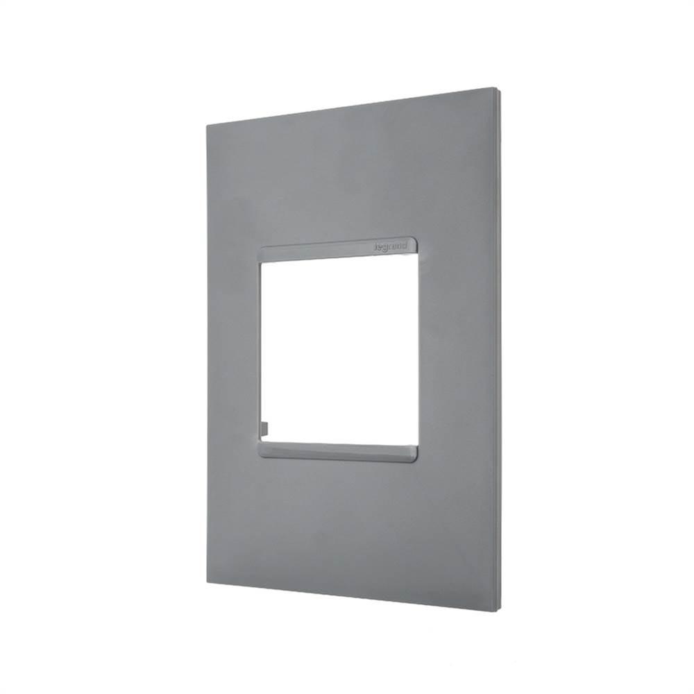 Placa Plus+ 2 Modulo 4x2 Cinza