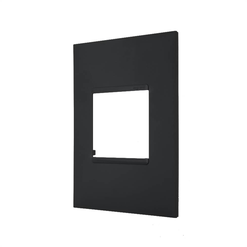 Placa Plus+ 2 Modulo 4x2 Preta