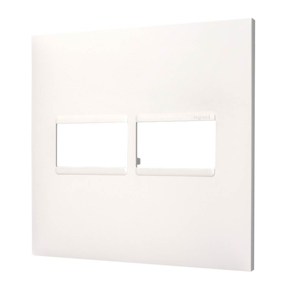 Placa Plus+ 2 Modulo 4x4 Branca