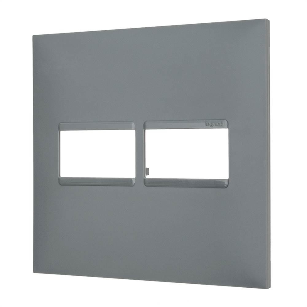 Placa Plus+ 2 Modulo 4x4 Cinza
