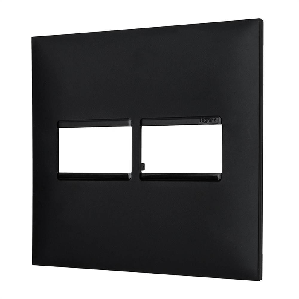 Placa Plus+ 2 Modulo 4x4 Preta