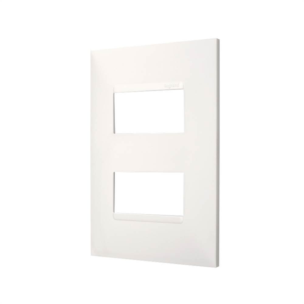 Placa Plus+ 2 Modulo Separados 4x2 Branca