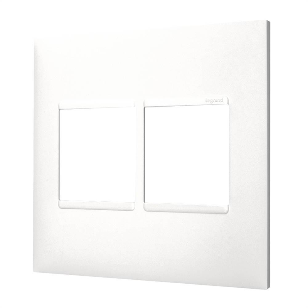 Placa Plus+ 4 Modulo 4x4 Branca