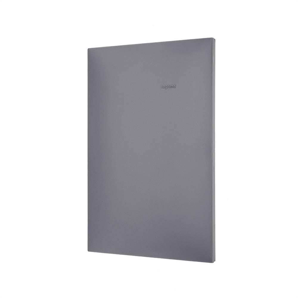 Placa Plus+ Cega 4x2 Cinza