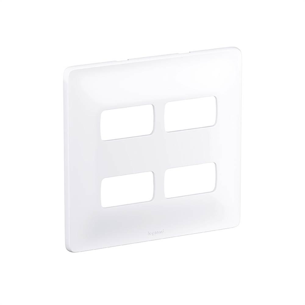 Placa Zeffia Cega 4x4 2 + 2 Postos Separados 680175