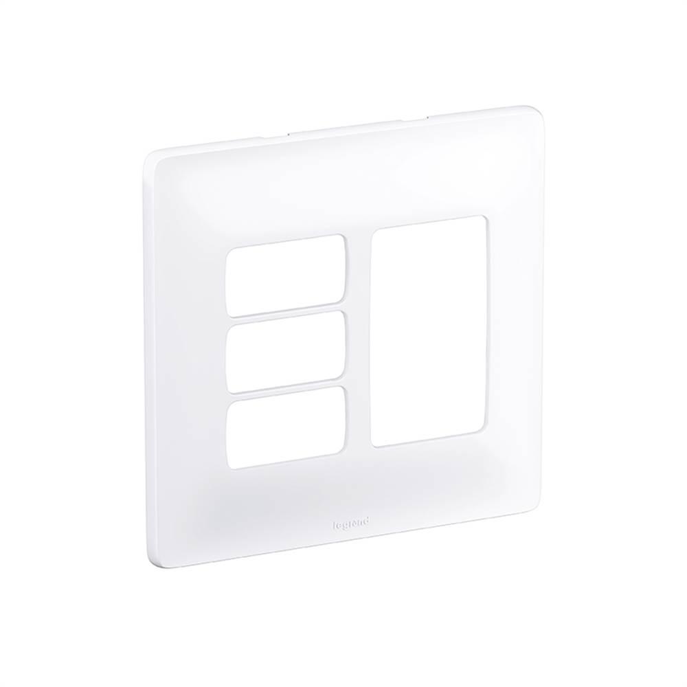 Placa Zeffia Cega 4x4 3 Pos. Juntos + 3 Separados 680178
