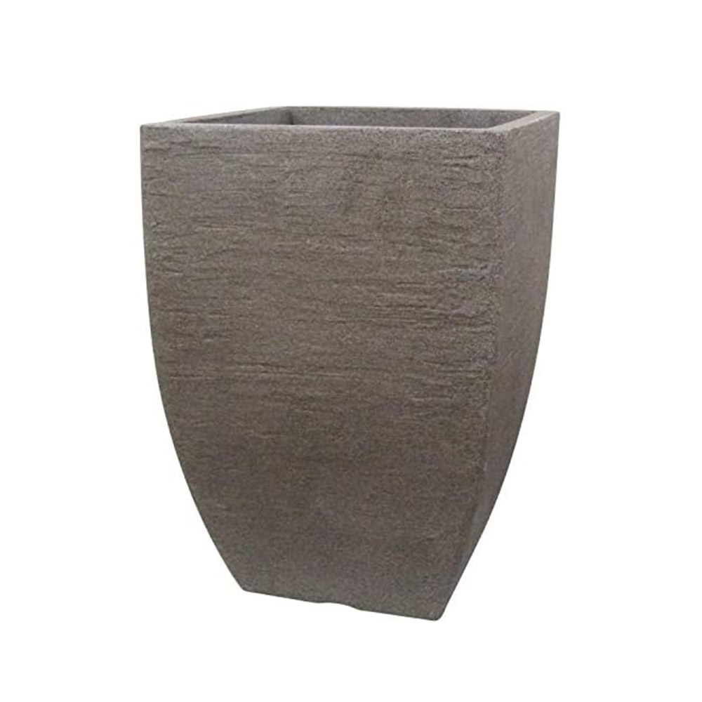 Prato P/ Vaso Japi Quadrado 38cm ***Marmore
