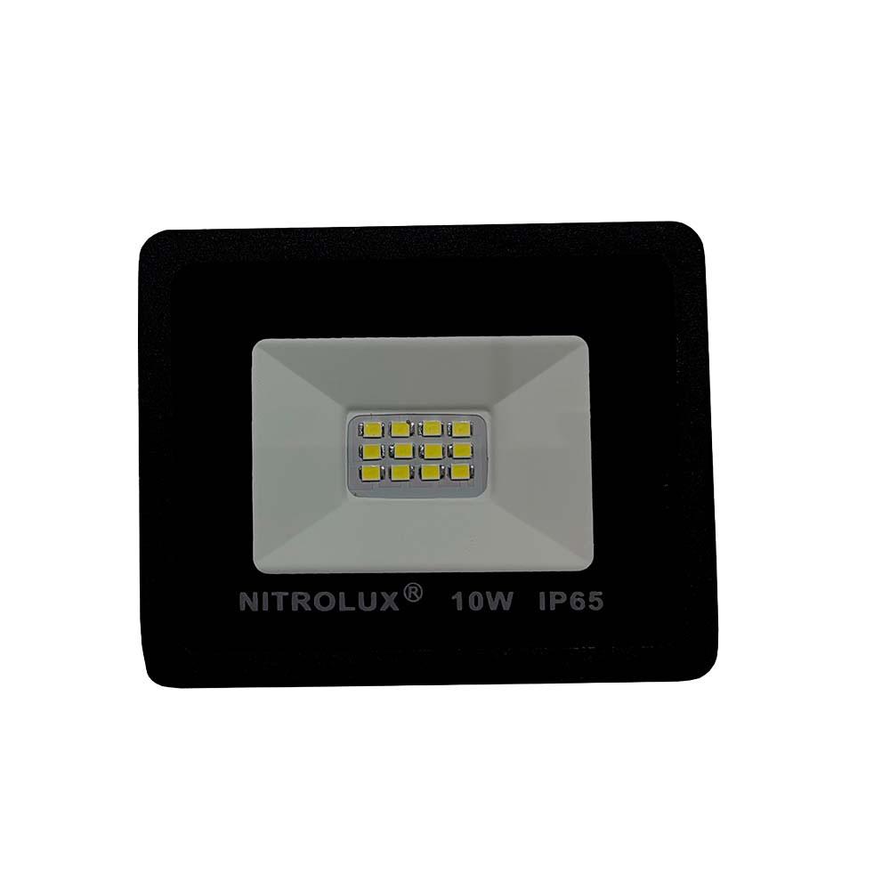 Refletor Led Smd Prof 10w 6500k Nitrolux
