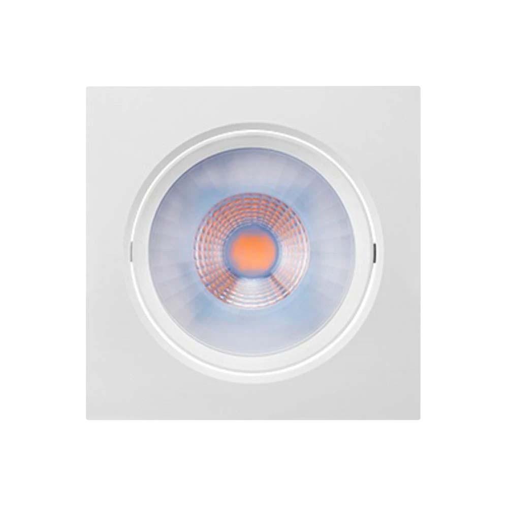 Spot Brilia Quad. Branco C/ Lamp. Led Fixa 4,5w 2700k