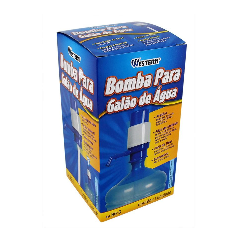 Bomba Manual Para Galão De Água 10L Ou 20L