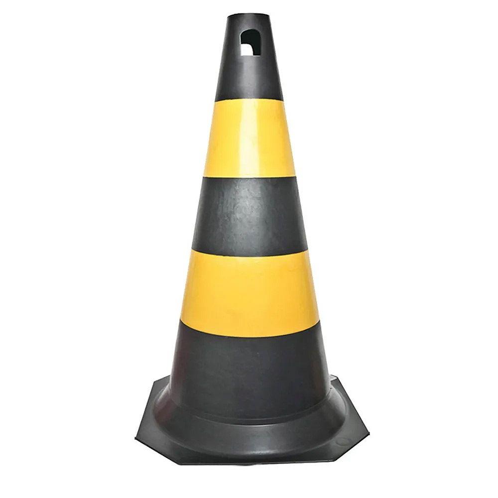 Cone Rígido Amarelo/Preto 50 Cm
