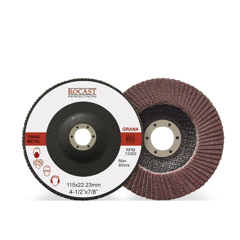 Disco De Lixa Flap Disc 115 X 22 Mm Grão 60