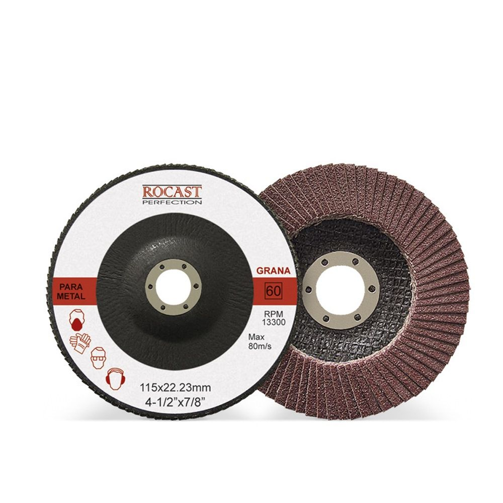 Disco De Lixa Flap Disc 115 X 22 Mm Grão 80