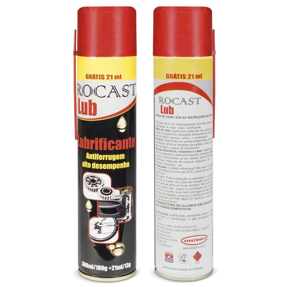 Lubrificante Spray 300 Ml + 21 Ml Rocast Lub
