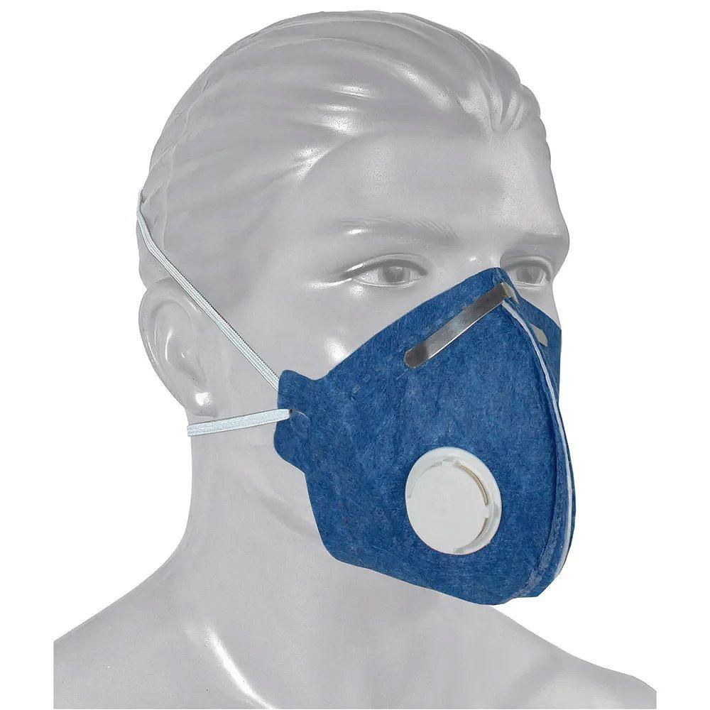 Máscara Respiratória Descartável Pff1 Com  Válvula