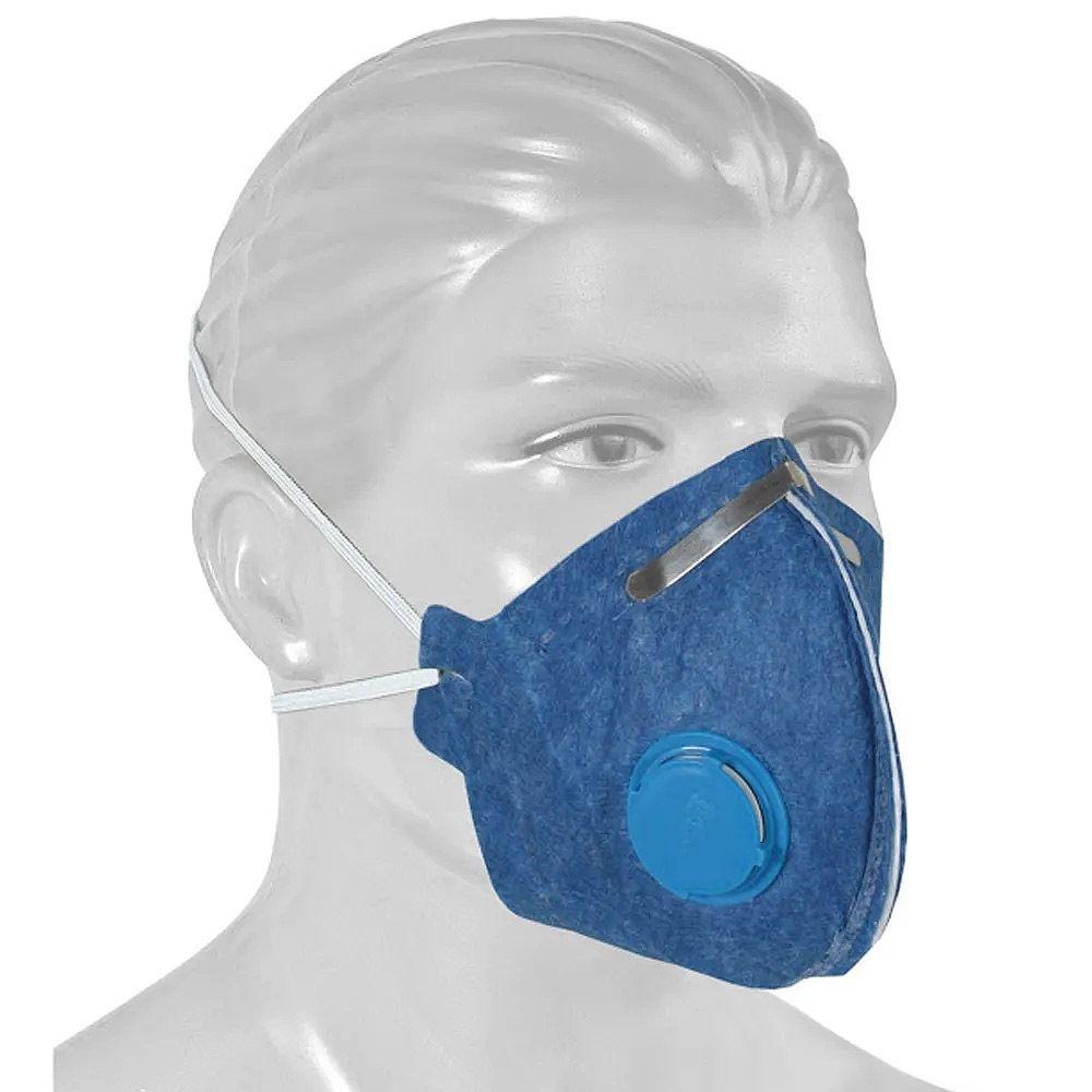 Máscara Respiratória Descartável Pff2 Com  Válvula