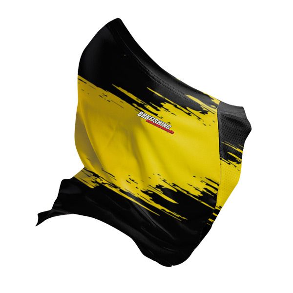 BANDANA TUBE BLACK MASK BRK REF015 AMARELO/PRETO