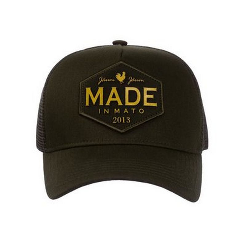 BONE MADE IN MATO TRUCKER ROOSTER OURO GREEN