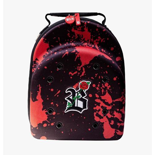 CASE CAP BLCK BLACK RESPING RED ROSE