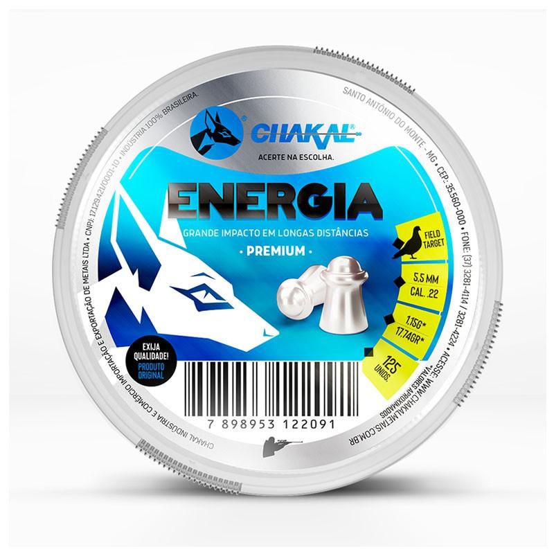 CHUMBINHO CHAKAL ENERGIA 5,5MM 125 UND