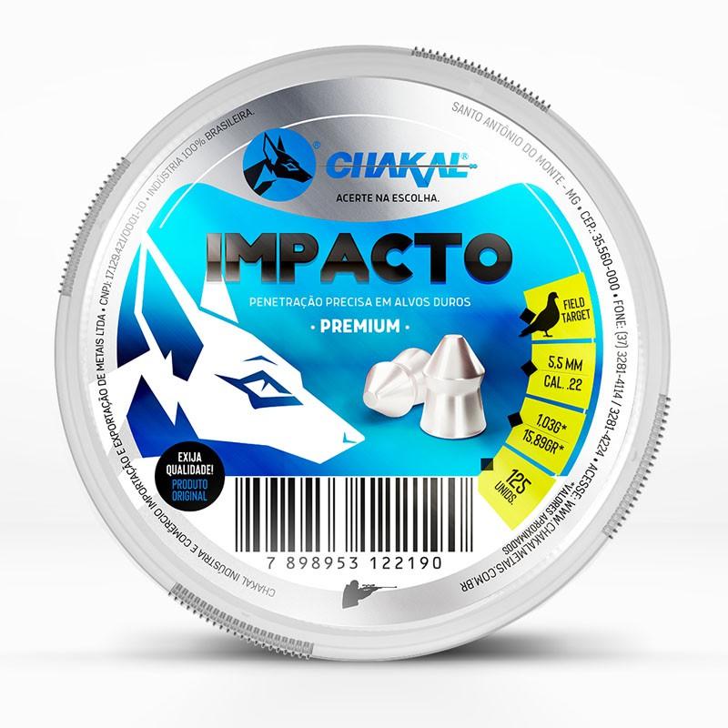 CHUMBINHO CHAKAL IMPACTO 5,5MM 125 UND