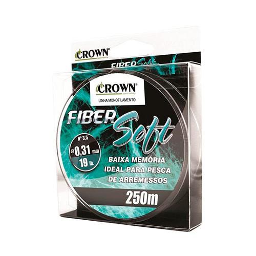 LINHA MONO CROWN FIBER SOFT GREEN 250M